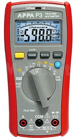 Multimetr cyfrowy APPA LED (6000), podświetlany I DC:6/10A