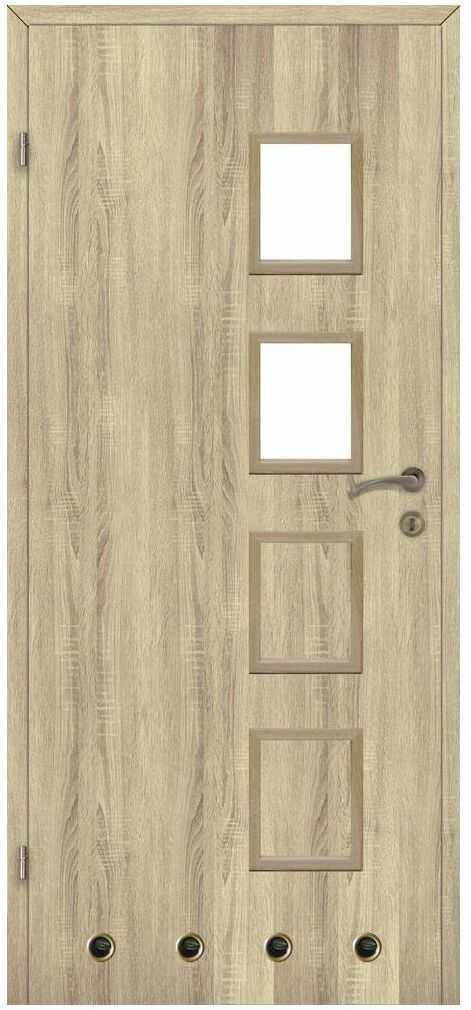 Skrzydło drzwiowe z tulejami wentylacyjnymi SIMON Dąb sonoma 60 Lewe CLASSEN