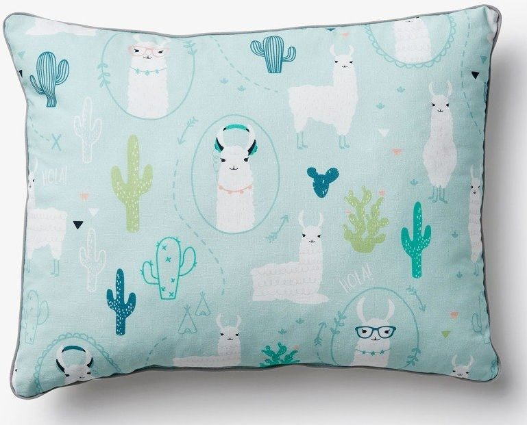 Niebieska poduszka ozdobna Pinio Lamy