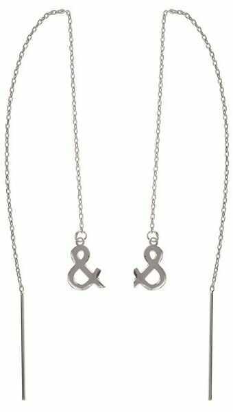 Delikatne przewlekane srebrne wiszące kolczyki and & srebro 925 K1528