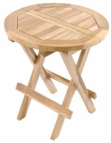 Stół ogrodowy DIVERO wykonany z drewna tekowego