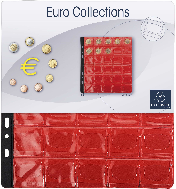 Exacompta monety album/segregator, kieszenie 30 mm