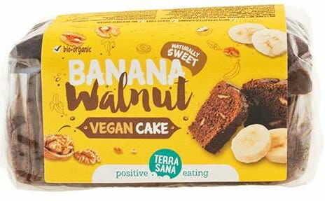 Ciasto bananowe z orzechami włoskimi bio 350 g - terrasana