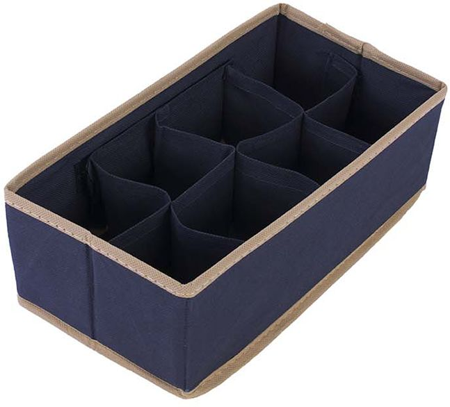 Organizer do szuflady niebieski 29 x 15 x 9 - niebieski