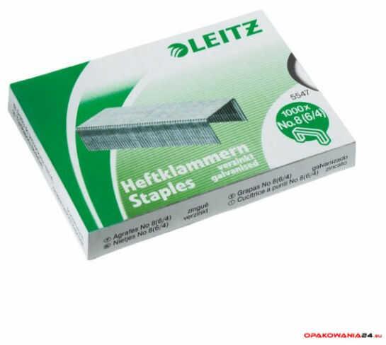Zszywki Leitz galwanizowane, Nr. 8 1000 szt. 55780000