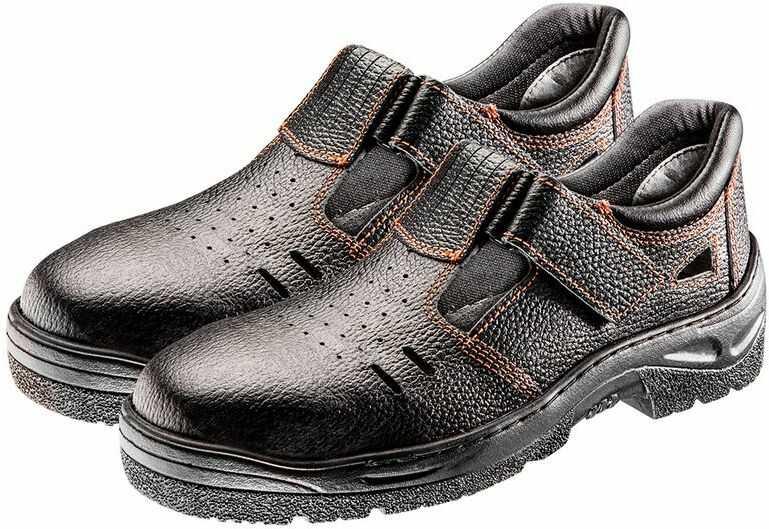 Sandały robocze S1 SRC, skórzane, rozmiar 38 82-572