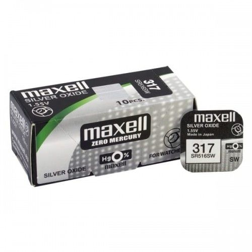 bateria srebrowa mini Maxell 317 / SR 516 SW