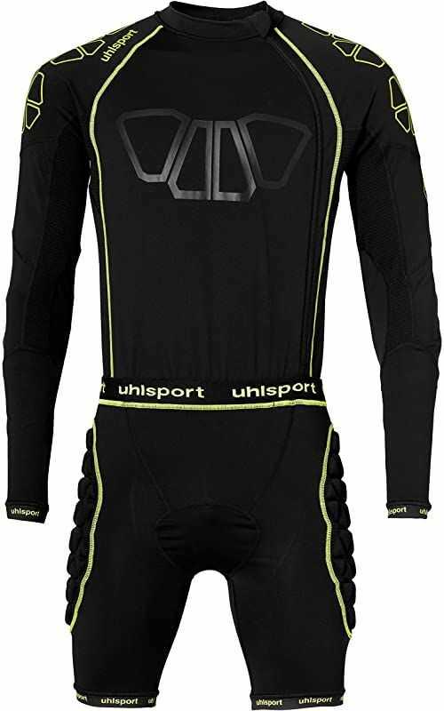 uhlsport Unisex T-shirt Bionikframe Bodysuit czarny Schwarz/Fluo Gelb X-L
