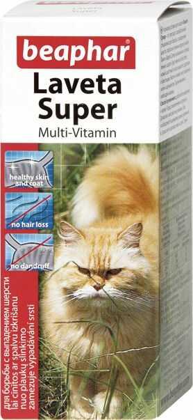 LAVETA SUPER CAT 50ML - preparat poprawiający kondycję sierści dla kotów