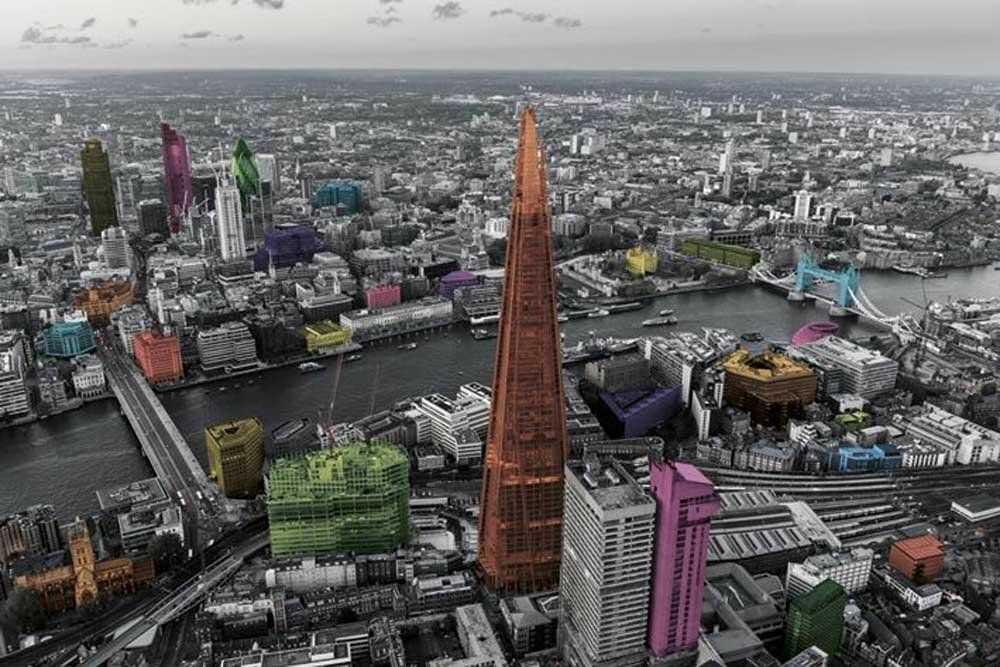 empireposter - Londyn - Colour Splash - rozmiar (cm), ok. 91,5x61 - plakat, NOWY -