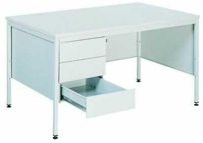 Metalowe biurko lekarskie BIM 021 z 3 szufladami