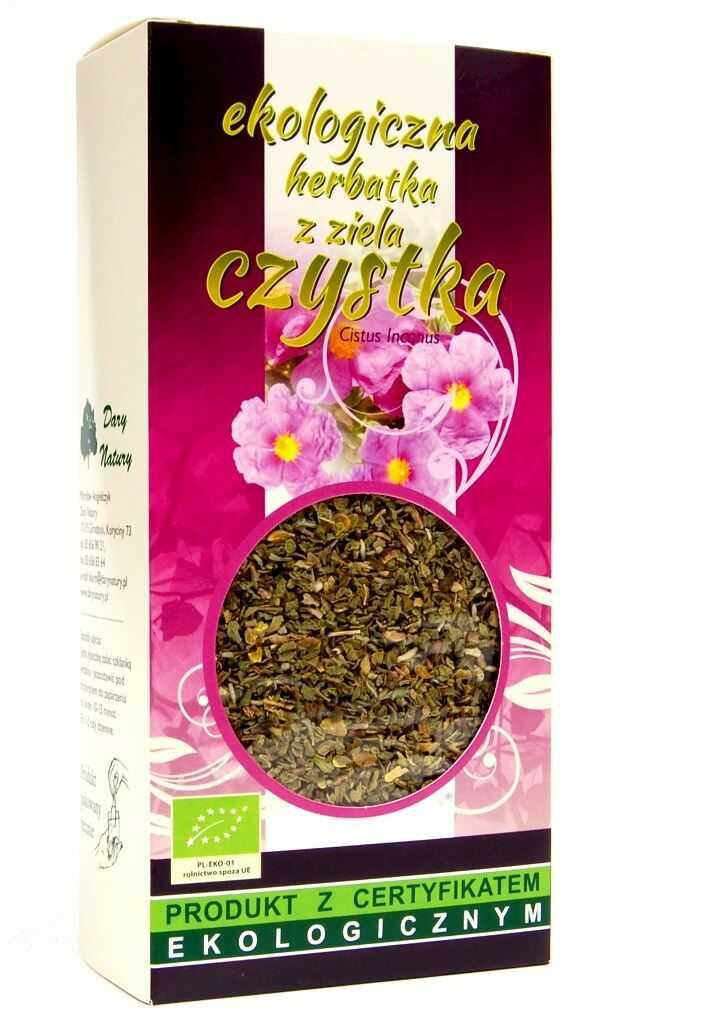 Herbatka ziele czystka bio 50 g - dary natury