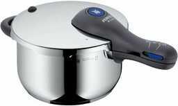 WMF Perfect Plus szybkowar indukcyjny 4,5 l, szybkowar, polerowana stal nierdzewna Cromargan, 2 poziomy gotowania, regulator gotowania jedną ręką