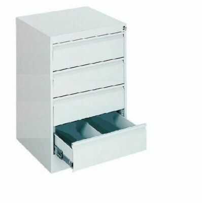 Metalowa szafa kartotekowa do biura SZK 116 z 4 szufladami-47 cm