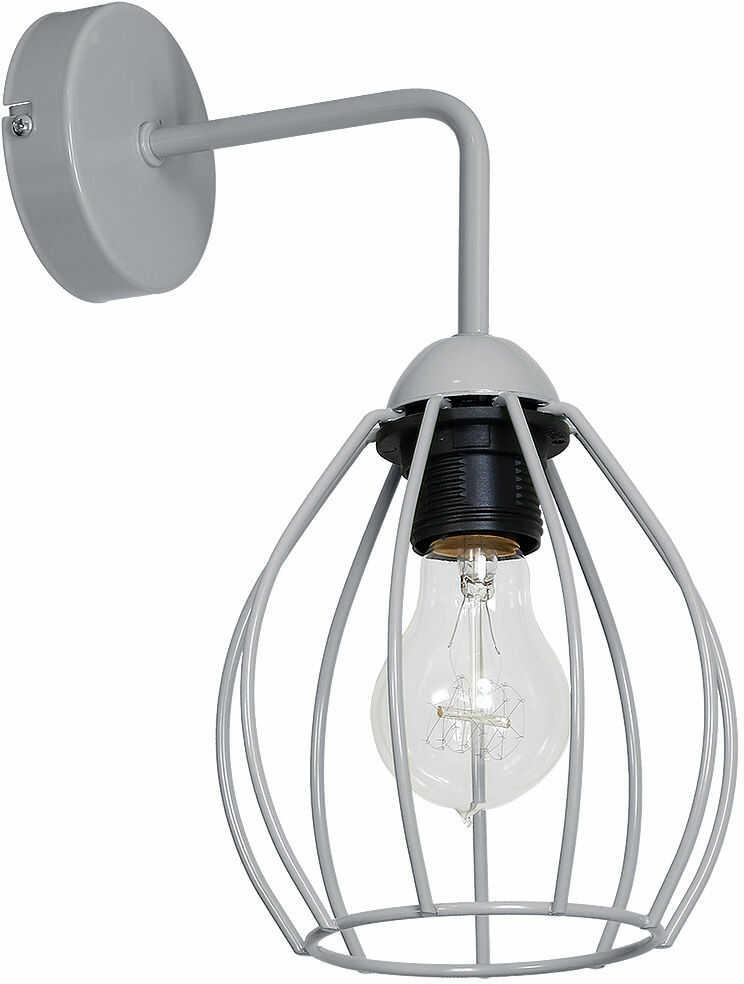 Milagro DON GREY MLP732 kinkiet lampa ścienna koszyk szary metal 1xE27 12cm