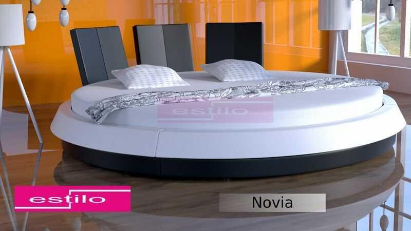Łóżko do sypialni NOVIA okrągłe - tkanina