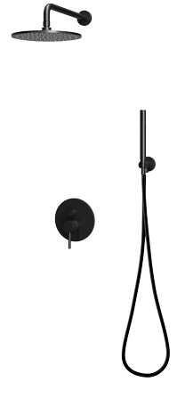 Omnires Y podtynkowy zestaw prysznicowy czarny mat SYSY18BL