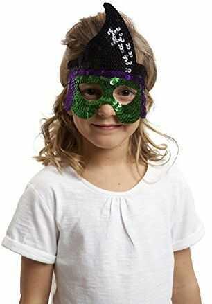 Żywe kostiumy 203590 maska z cekinami czarownicy, wielokolorowa, jeden rozmiar