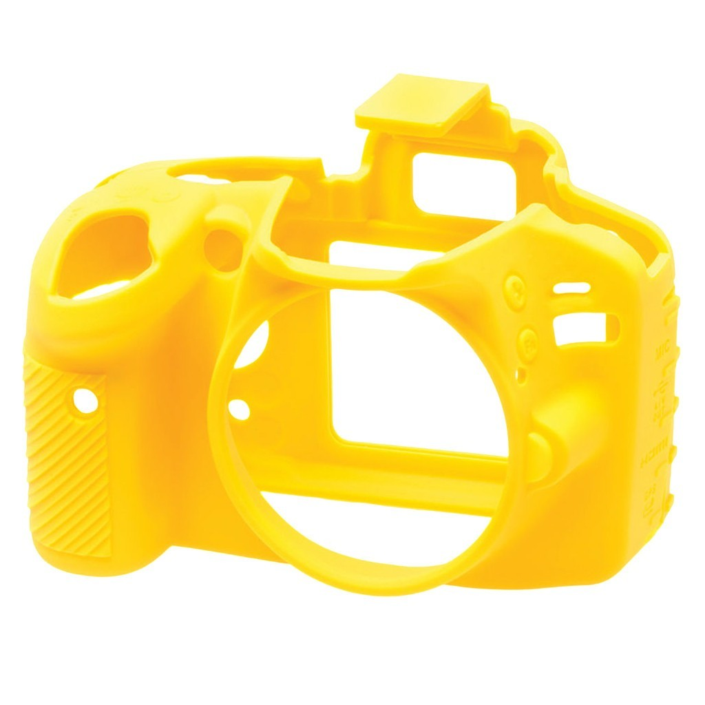 Osłona silikonowa easyCover do aparatu Nikon D3200 żółta