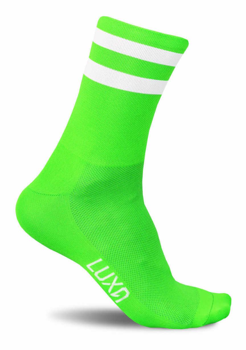 Neonowe skarpety kolarskie FLUO GREEN - bądź widoczny na drodze