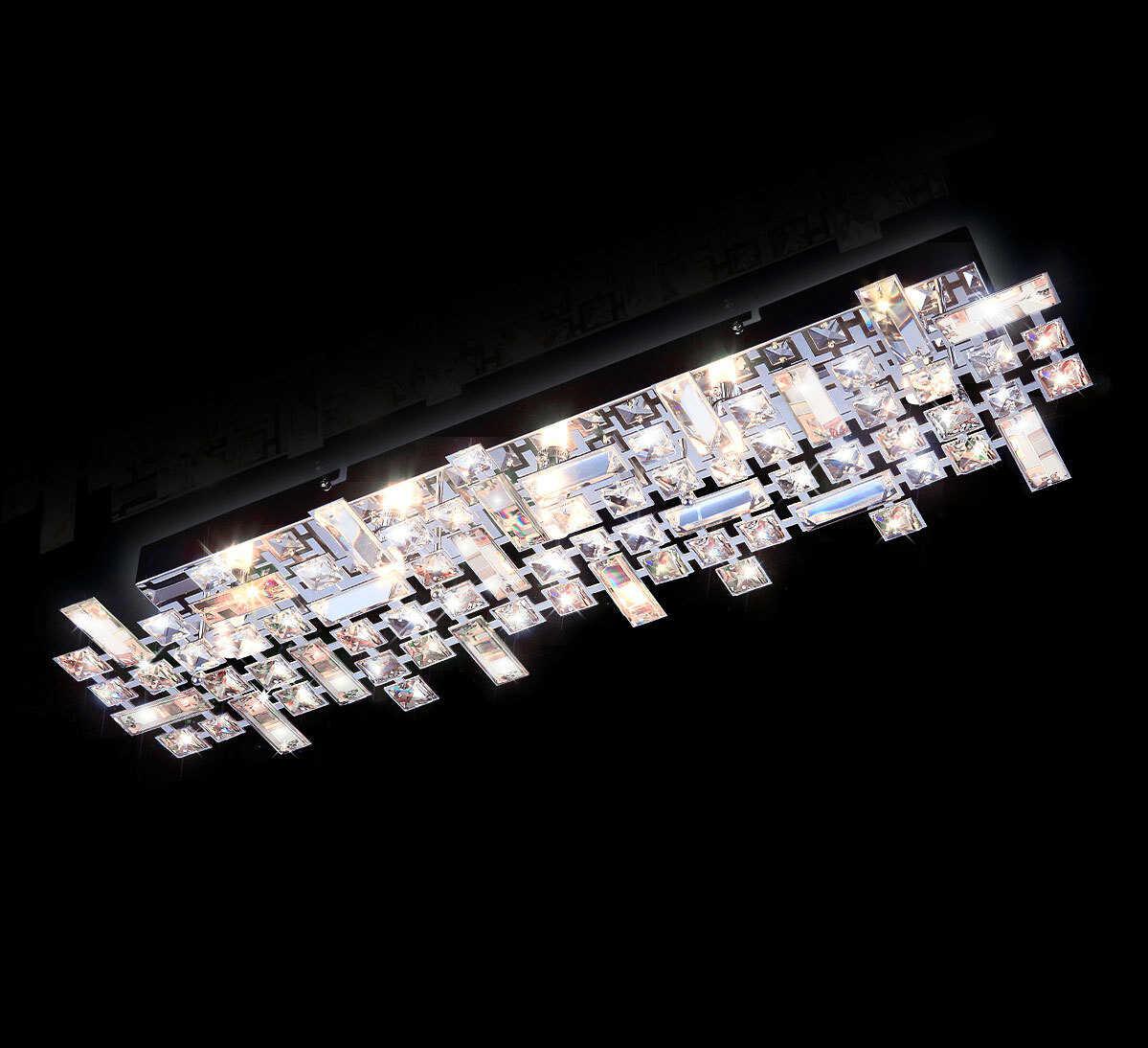 Plafon kryształowy 68cm K170