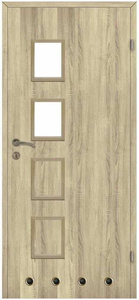 Skrzydło drzwiowe z tulejami wentylacyjnymi SIMON Dąb sonoma 70 Prawe CLASSEN