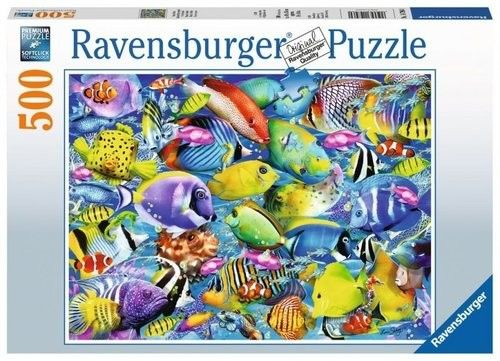 Puzzle Ravensburger 500 - Tropikalne rybki, Tropical Traffic