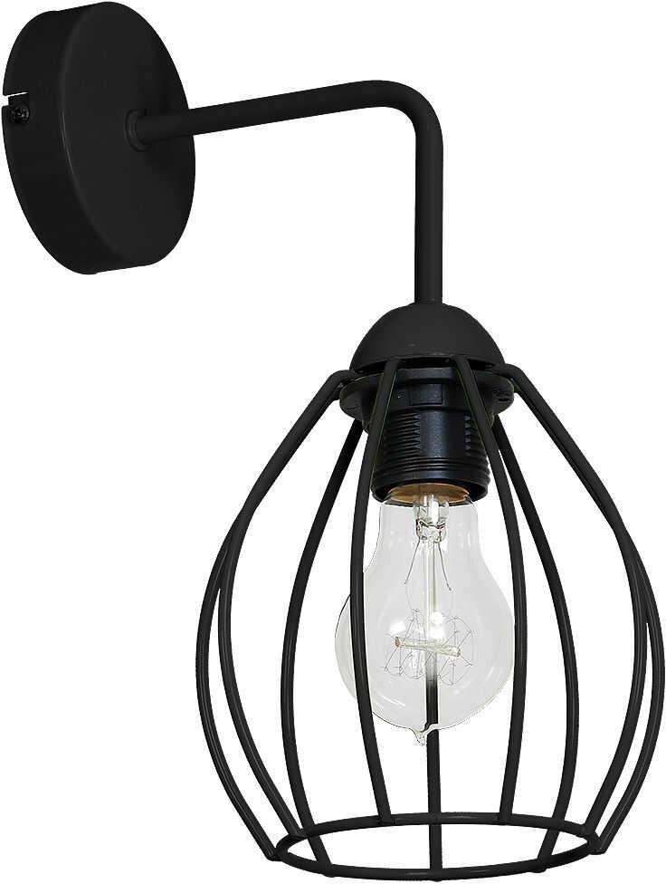 Milagro DON BLACK MLP746 kinkiet lampa ścienna koszyk czarny metal 1xE27 12cm