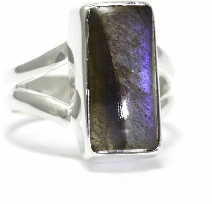 Kuźnia Srebra - Pierścionek srebrny, rozm. 11, Labradoryt, 4g, model