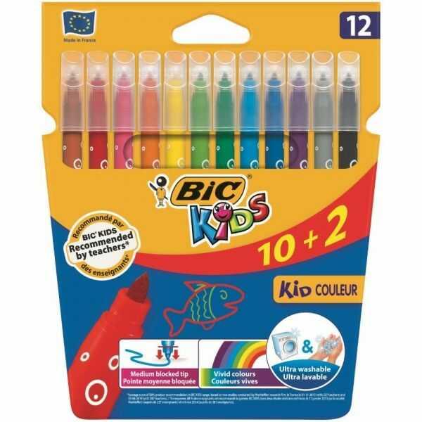 Mazaki flamastry BIC KID COULEUR, 12 kolorów -  Rabaty  Porady  Hurt  Autoryzowana dystrybucja  Szybka dostawa