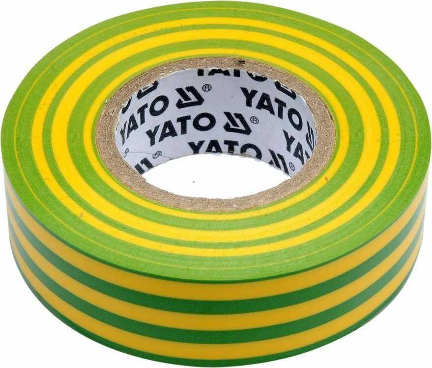 Taśma elektroizolacyjna 19mmx20mx0,13mm, żółto-zielona Yato YT-81655 - ZYSKAJ RABAT 30 ZŁ
