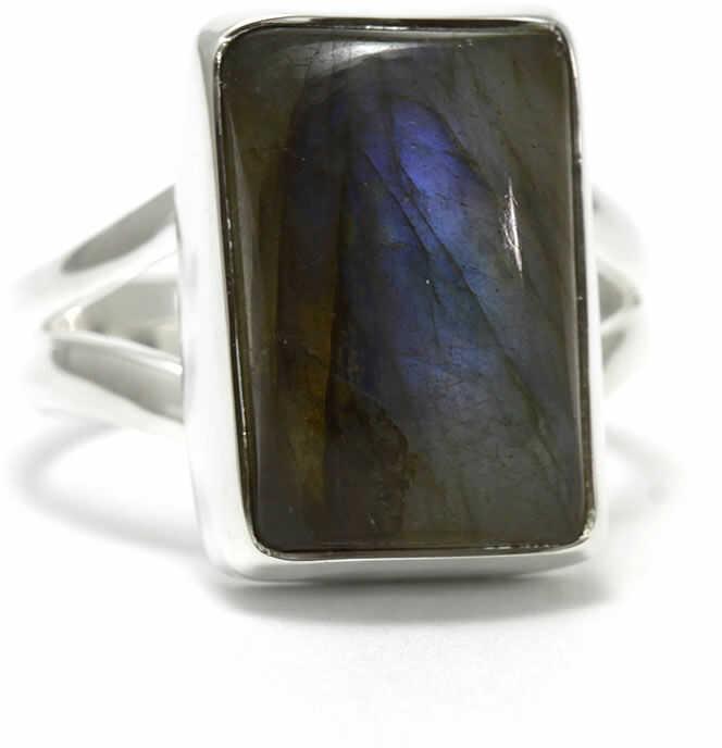 Kuźnia Srebra - Pierścionek srebrny, rozm. 17, Labradoryt, 6g, model