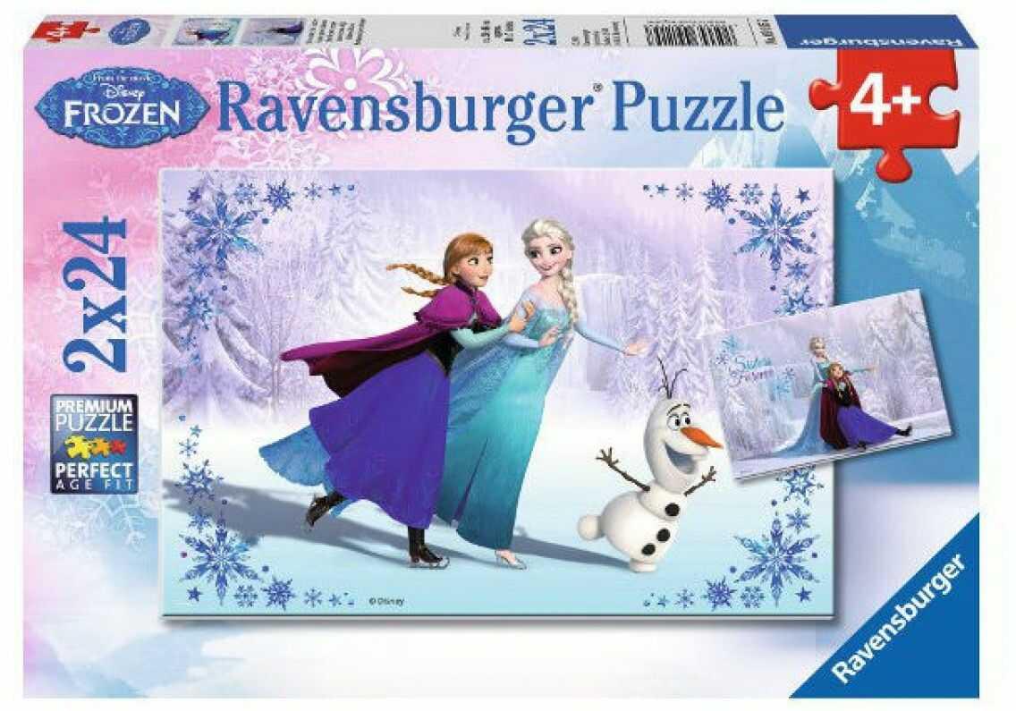 Ravensburger - Puzzle Frozen siostry 2 x 24 elem. 091157