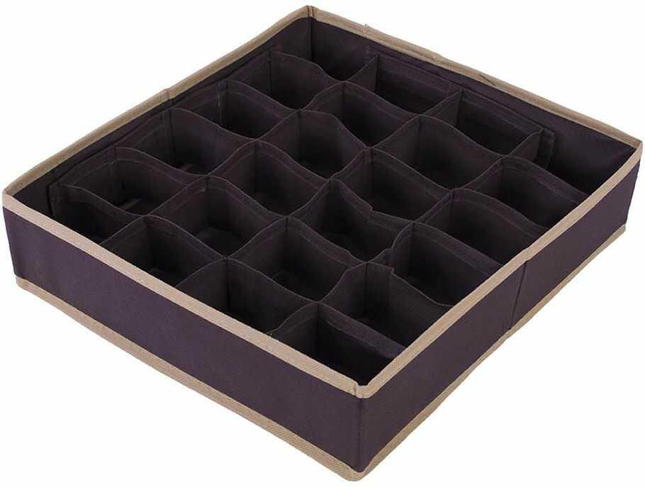 Organizer do szuflady brąz 34 x 31 x 8 - Brąz