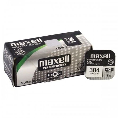 bateria srebrowa mini Maxell 384 / 392 / SR 41 SW / SR 736 SW / G3