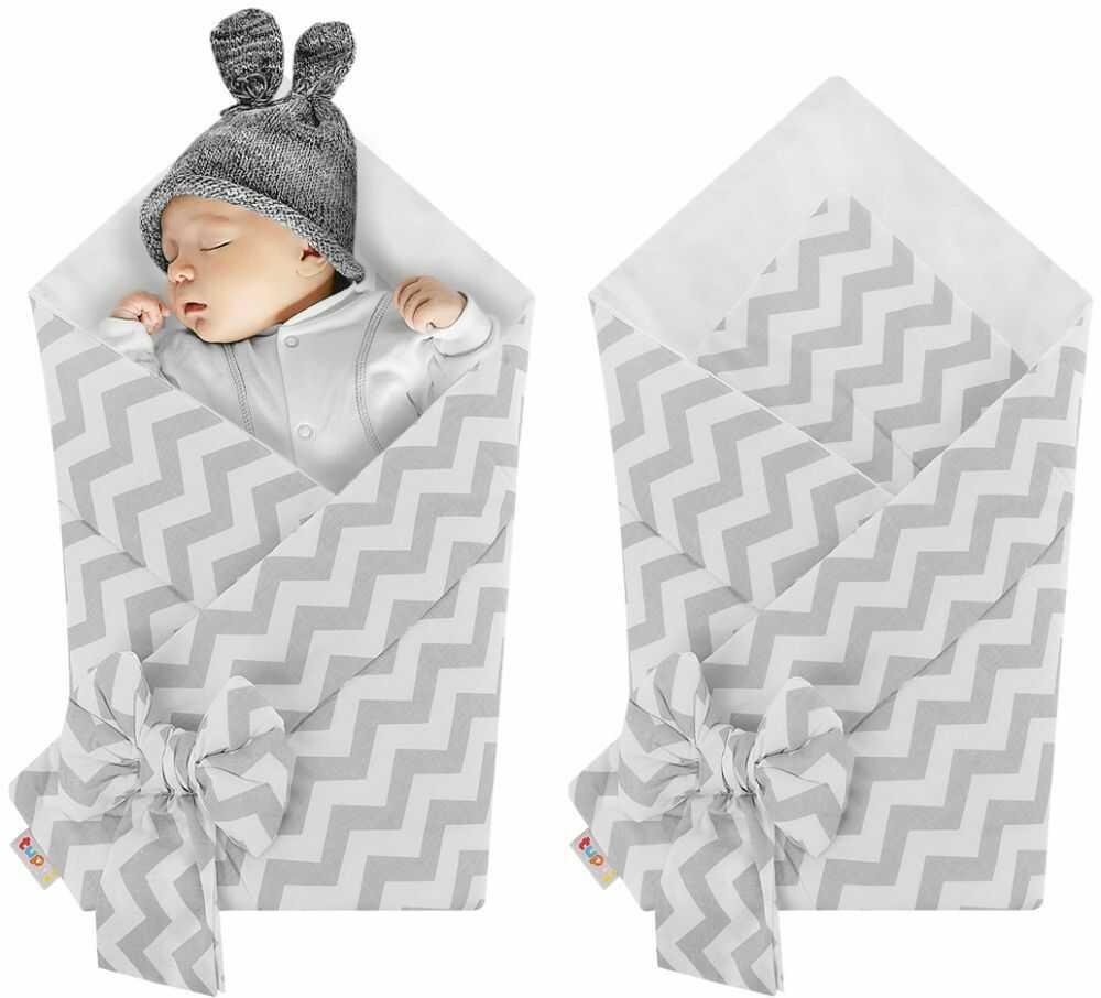 Rożek niemowlęcy bawełniany otulacz dziecięcy becik - ZYGZAK