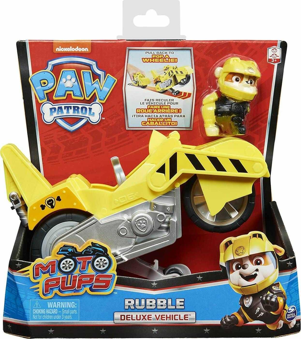 SPIN MASTER Psi Patrol Moto Pups Motocykl i figurka Rubble 20127785