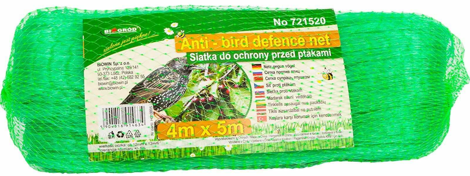Siatka przeciw ptakom 4x5m