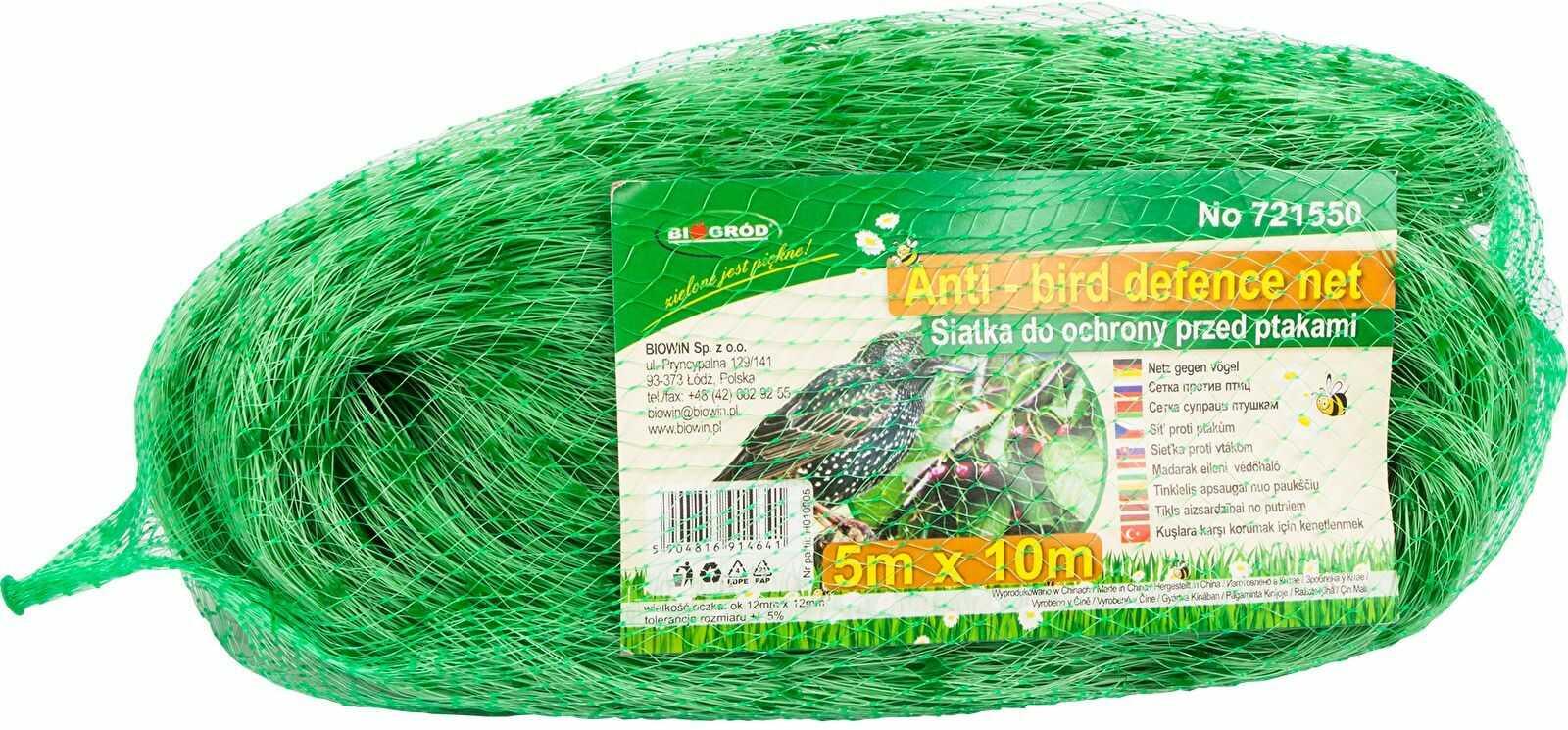Siatka przeciw ptakom 5x10m