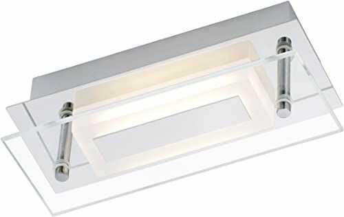 Briloner Leuchten 2262-018 lampa ścienna LED, lampa sufitowa, 1 x 6 W, 500 lm, nadaje się do łazienki/łazienki, IP44, chrom, 2262-018 [klasa energetyczna A+]