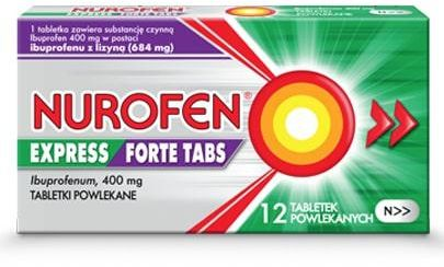 Nurofen Express Forte Tabs 400mg 12 tabletek powlekanych