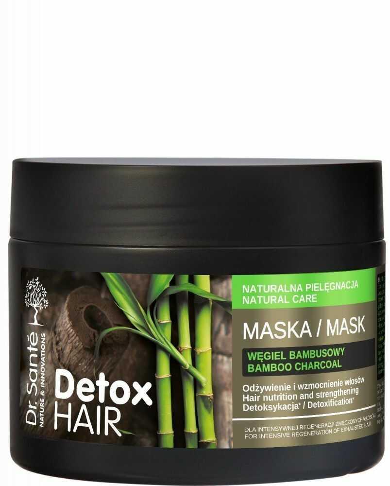 Elfa Pharm Dr.Sante Detox Hair Maska regenerująca do włosów z węglem bambusowym 300ml