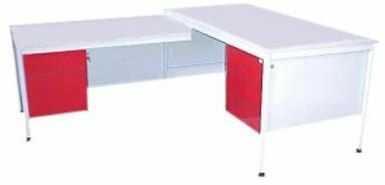 Metalowe biurko lekarskie BIM 071 z dostawką