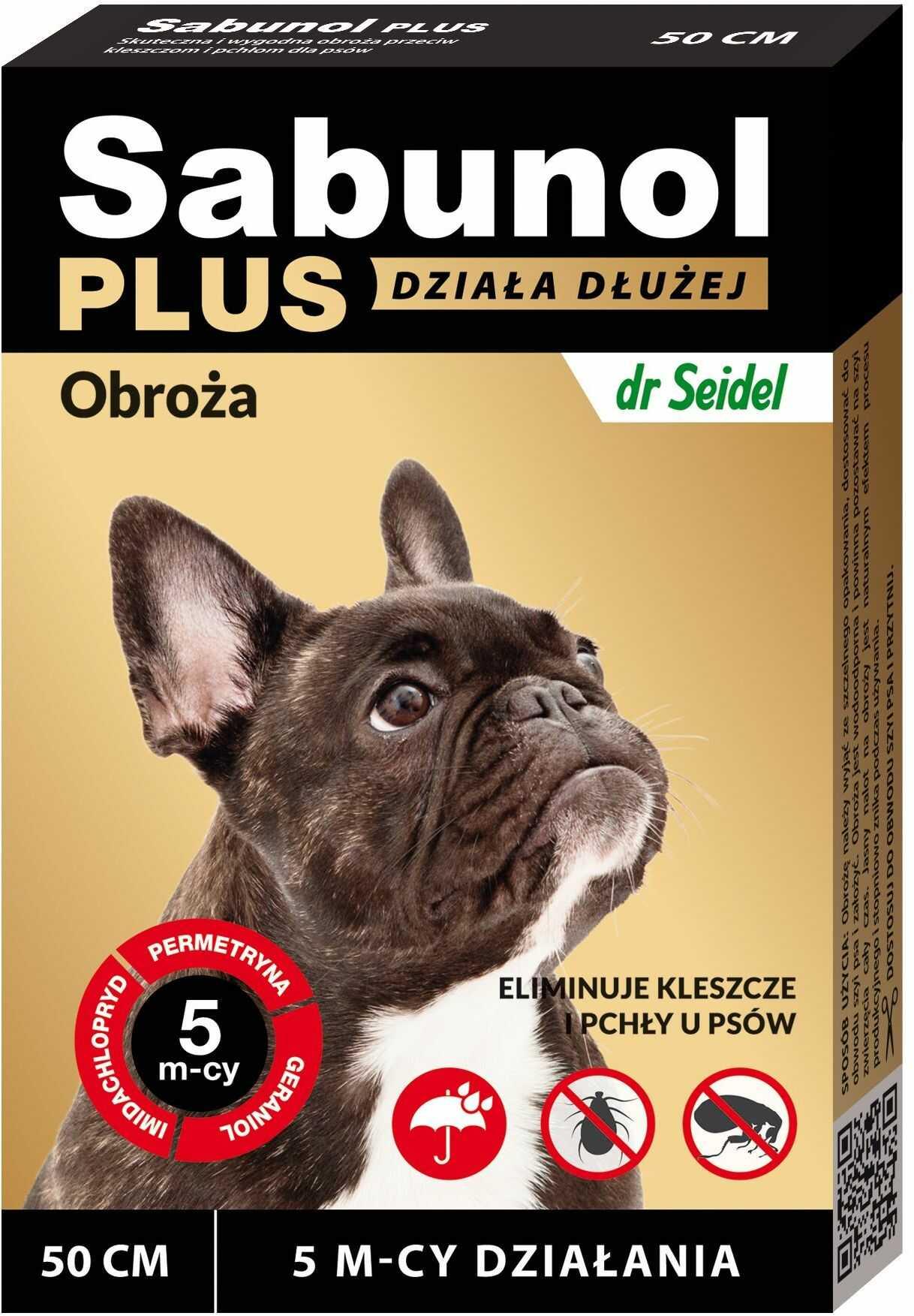 Sabunol Plus obroża przeciw kleszczom i pchłom dla psa 50 cm