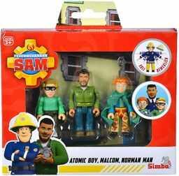 Simba 109251091 - Strażak Sam superbohaterowie zestaw figurek / policjant Malcom, Norman i James / w pełni ruchomy / 7,5 cm