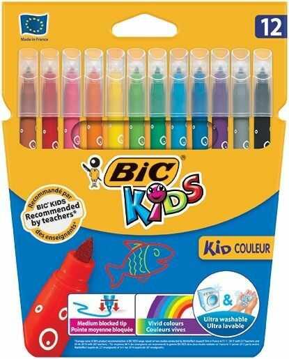 Flamastry BIC KID COULEUR, 18 kolorów -  Rabaty  Porady  Hurt  Autoryzowana dystrybucja  Szybka dostawa