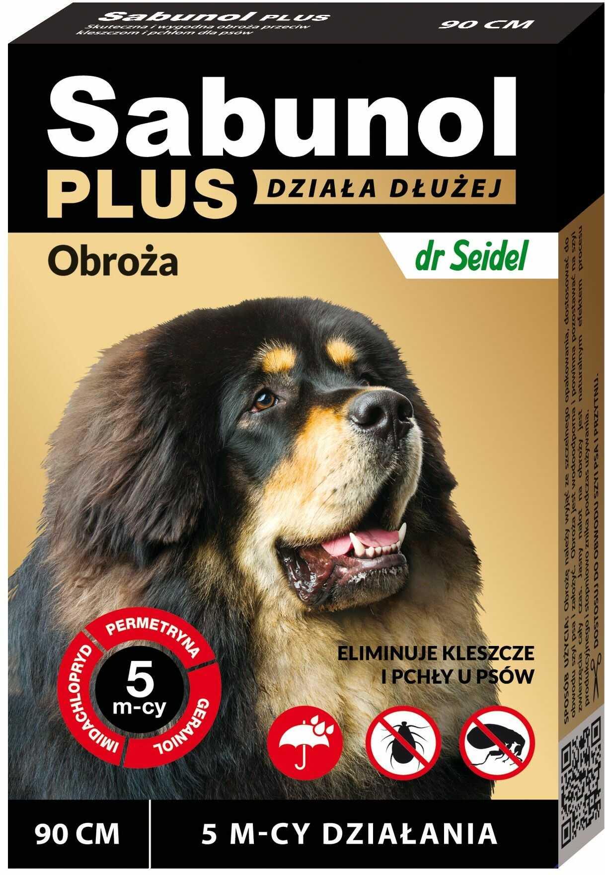 Sabunol Plus obroża przeciw kleszczom i pchłom dla psa 90 cm