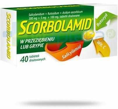 Scorbolamid 300 mg + 100 mg + 5 mg 40 drażetek