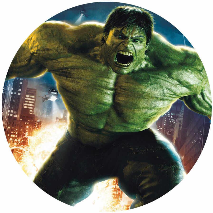 Dekoracyjny opłatek tortowy Avengers - 20 cm