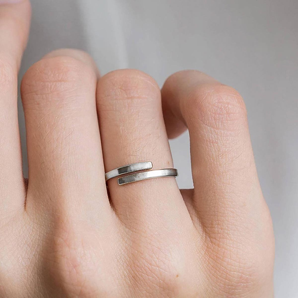 Pierścionek obrączka srebrna stal szlaczetna